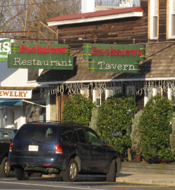 the entrance to Bucklew's Tavern