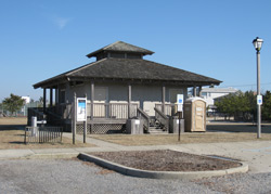 the Sunset Park beach badge booth