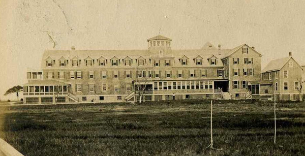 a pre 1930's view of the Harvey Cedars hotel