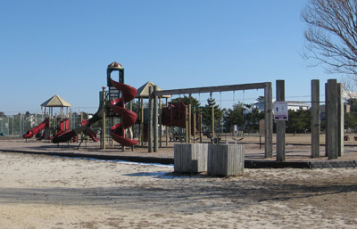 a portion of the playground at Sunset Park